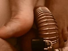 chastity tease before blowjob and deep throat part 1