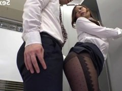 sexiz.net - 827-sw 338 one man in the only department female employees underwear that is transparent from black pantyhose invites my erection-SW-338.1