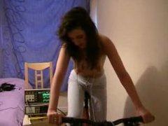 Girl bike fast heartbeat taken by another female