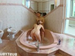 Big titted girl fucked in hot jacuzzi. Eleonora from DATES25.COM