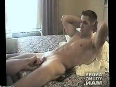 Manhandling a Straight Military Man