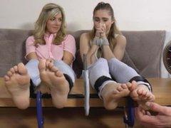 Rachelle and Tille's Feet Tickling Endurance