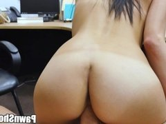 Whore in shorts visits my pawn shop and gets big dick in her pussy xpg15248