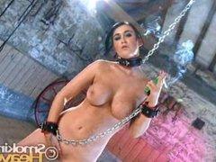 Chained up Smokey Slut