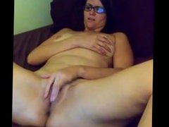 An from DATES25.COM - Milf wife masturbating orgasm with panties inside