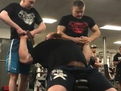 Bodybuilder or Strongman Lifts 2 Guys at once HOT