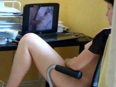 Gm masturbating watching porn. Reagan from DATES25.COM