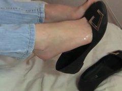 cum on feet in mules