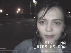 Girls get wet and wild in public