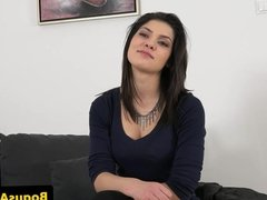 Amateur euro casted with doggystyle in office