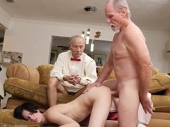 Old and young lesbian orgy and horny old