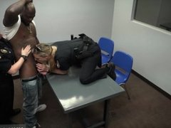 Amateur blonde teen and black Milf Cops