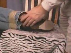 Nylon foot tickling