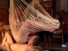 Sucking off my buddy in the hammock