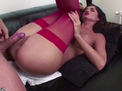 Extrem Hot Teen With Red Stockings Seduce to Fuck Hard