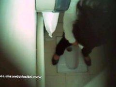 Indian Babe Filmed Naked In Public Toilet