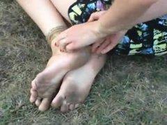 Barefoot bondage sleve Ekaterina