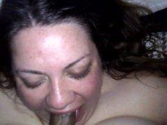 Aunt sucking my cock