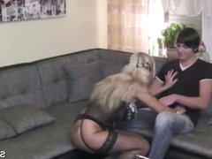 Tyra from DATES25.COM - German mother seduce not her step son to fuck