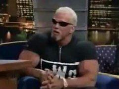Scott Steiner Bodybuilder Wrestler Flexing Huge Biceps on talkshow