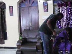 Satin silk Saree Aunty romance with doctor