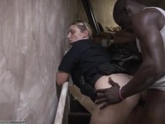 Blonde tgirl One suspect a ebony tall dude was stopped eventually when