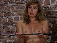 Pretty girl punished by her boyfriend.