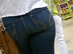 Kerri from DATES25.COM - Candid teen ass in tight jeans at the store