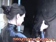 Mistress takes slave for a walk