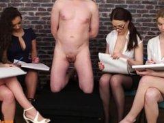 Hot Girls Study A Bondaged Guy