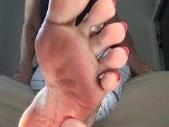 mistress`s beautiful sexy sweaty feet
