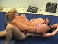 Robin vs Eric foot domination wrestling part 2