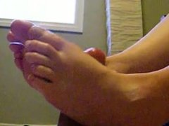 Footjob cumshot compilation. Margery from DATES25.COM