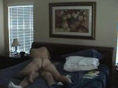 Naked brunette milf fucking a hard cock riding on top. Abbey from DATES25.COM