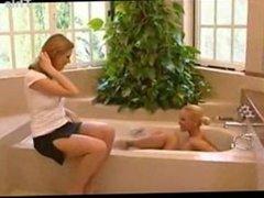Lesbian Foot Worship In Bathtub
