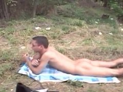 Mature and Boy Outdoor