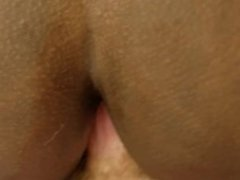 Teen black girl let's me fuck her asshole for the first time