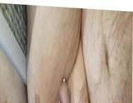 Prostate Milking with huge dildo and penis plug with cum