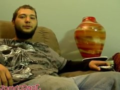 Straight dude watches TV while he gets sucked off by Joe