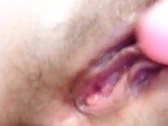 My  girlfriend  give creamy orgasm while masturbating