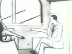 the train - porn cartoon circa 1925