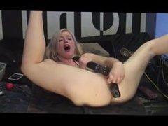 Blonde anal dildo. Deena from DATES25.COM