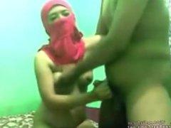 Arabian Wife In Hijab Caught Fucking Hard On Webcam