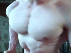 Young Bodybuilder Flexing