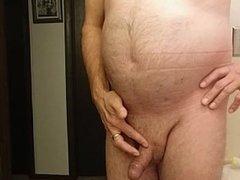 Man pisses in nurses scrubs 2, drink piss