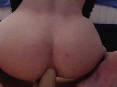 Femboy bouncing on that dildo