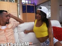 Ebony Teen Chick Rammed Rough By Big Cock