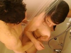 Girl fucked and cummed on in shower. Gary from DATES25.COM