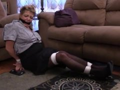 Karen Summer beautiful cougar tied and gagged
