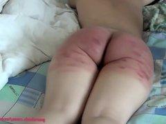 Very hard ass spanking
